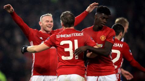 Wayne Rooney Bastian Schweinsteiger Manchester united
