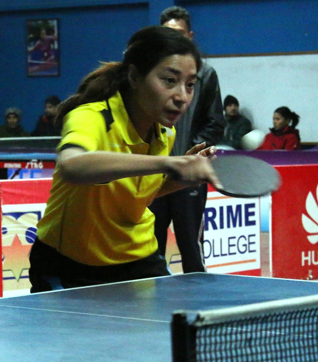 सम्झना कप टेबल टेनिसको महिला एकलको सेमिफाइनलमा विभागिय खेलाडी मात्रै