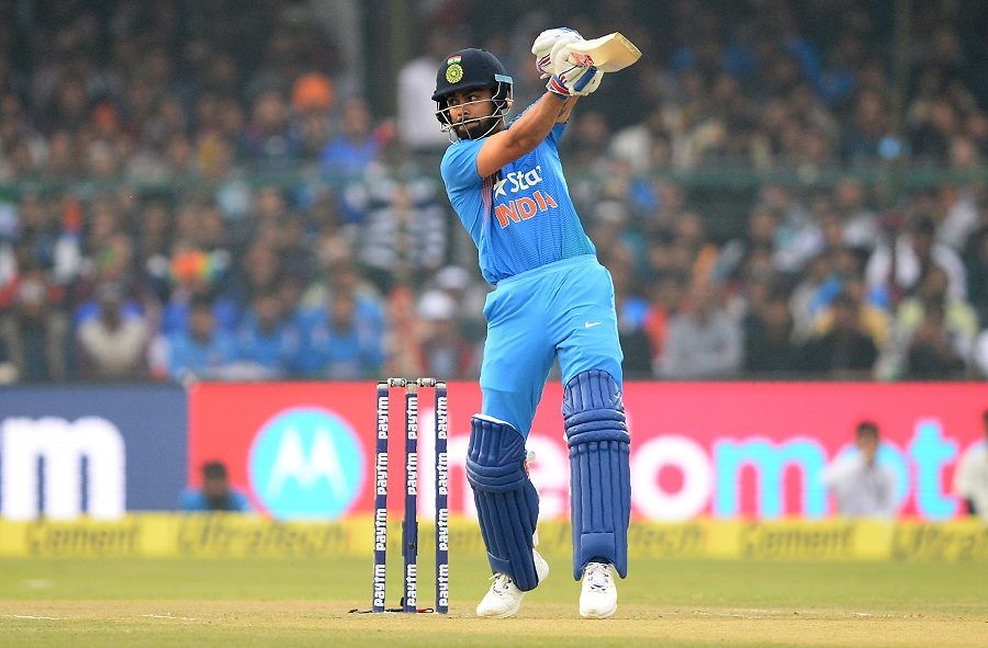 Indias batsman and captain Virat Kohli plays a shot during the first T20 cricket match between India and England at Green Park Stadium in Kanpur on January 26, 2017. IMAGE RESTRICTED TO EDITORIAL USE - STRICTLY NO COMMERCIAL USE--- / AFP PHOTO / SAJJAD HUSSAIN / ----IMAGE RESTRICTED TO EDITORIAL USE - STRICTLY NO COMMERCIAL USE----- / GETTYOUT