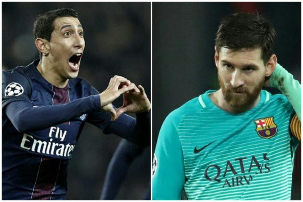 Messi di maria Psg Barcelona 3-0