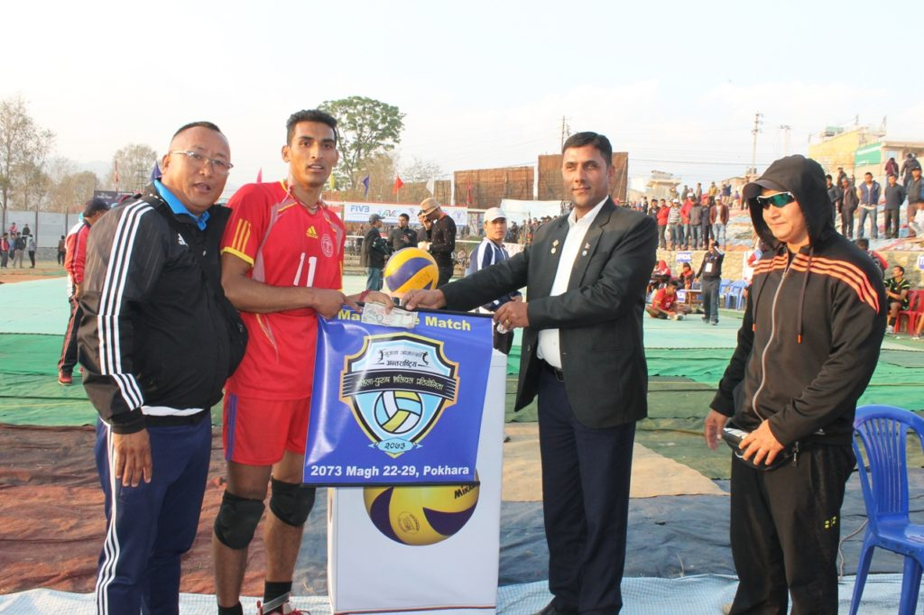 mom-kul-bdr-thapa-of-npc-received-token-of-love-with-adviser-of-western-volleyball-association-and-senior-leagal-officer-of-pokhara-submetropolitan-city-narayan-pdr-sharma