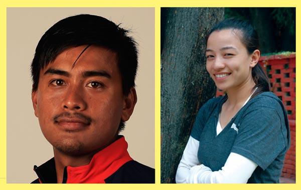 Gyanendra Malla and Ayesha Shakya