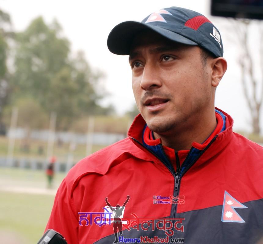 captain-paras-khadka-of-nepal-national-cricket-team-preparing-before-kenya-wclc-22