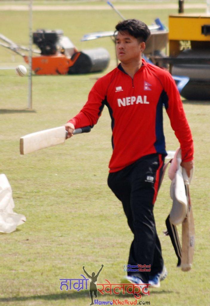 sagar-pun-of-nepal-national-cricket-team-preparing-before-kenya-wclc-2