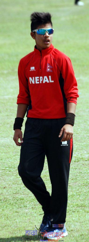 sandip-lamichhane-of-nepal-national-cricket-team-preparing-before-kenya-wclc-9