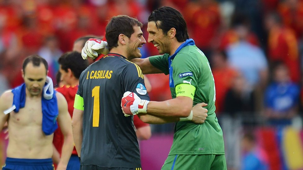 Casillas and Buffon