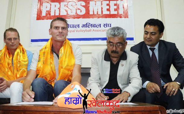 भलिबल विकासका लागि नेपाल र नेदरल्यान्ड्स संघबीच सम्झौता