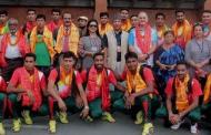 नेपालसँग खेल्न बंगलादेश भलिबल टोली आइपुग्यो