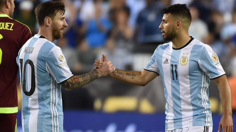 messi and aguero