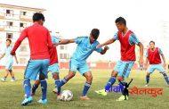 यु-१८ फुटबल टोली आज भुटान जाँदै; अन्तिम तयारीको फोटो फिचरसहित