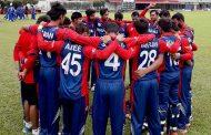 भुटानसँगको खेलमा नेपाल फिल्डिङ गर्दै