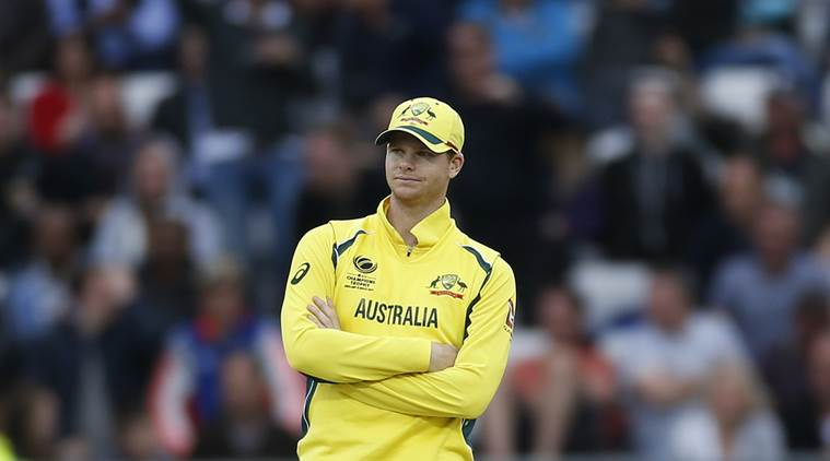 Australia's Captain Steve Smith looks dejected