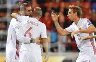 विश्वकप छनोटमा स्पेनको एकै खेलमा ८ गोल