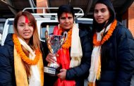 स्वर्ण विजेता यानसहित तेक्वान्दो टोली स्वदेश फिर्ता