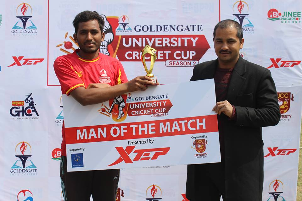 Xtep man of the match