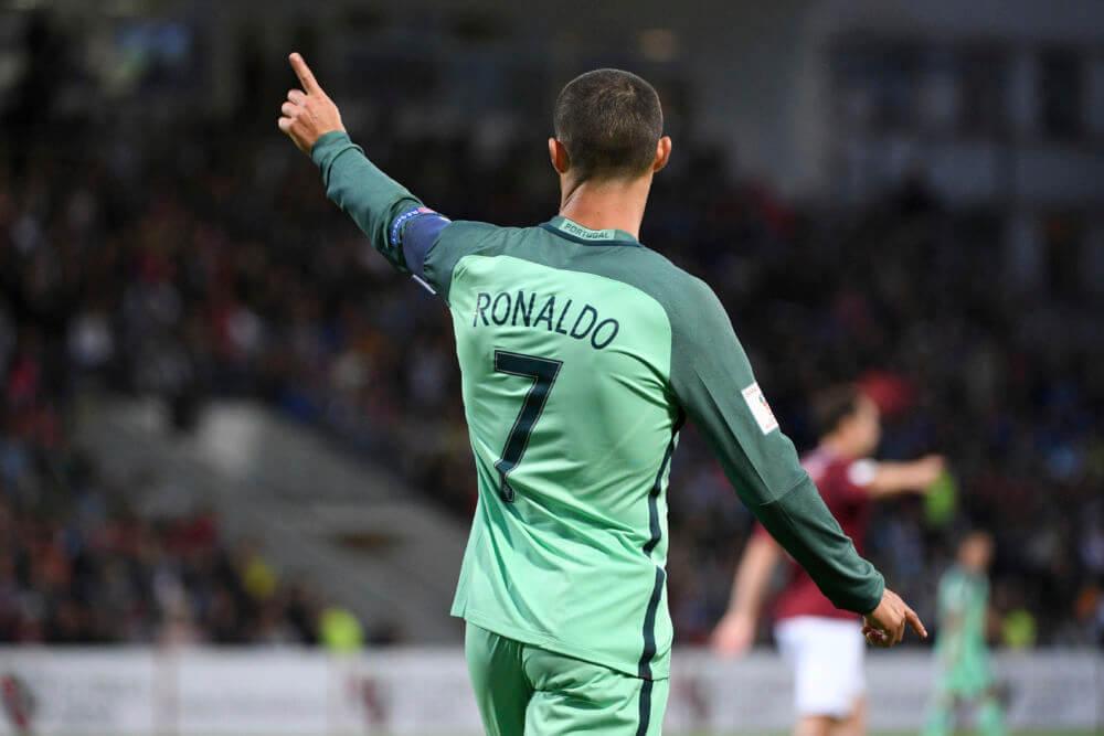 ronaldo portugal green