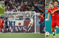 जापान र बेल्जियमबीचको पहिलो हाफ गोलरहित