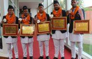 एशियाली पदक विजेता पाराग्लाईडिङ खेलाडी सम्मानित