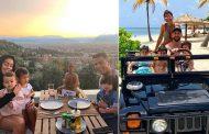 रोनाल्डो र मेस्सी परिवारसँग छुट्टी मनाउँदै