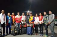 पदक विजेता ब्याडमिन्टन टोली स्वदेश फिर्कियो