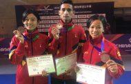 साग अघि तेक्वान्दोका ३ खेलाडीले चीनमा कास्य पदक जिते