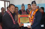 लतिलपुरका साग पदक विजेता सम्मानित