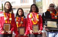 साग पदक विजेता बास्केटबल खेलाडी सम्मानित