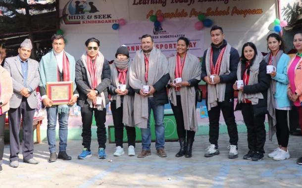 सागका पदक विजेता विकेश, अनु र विप्लव सम्मानित