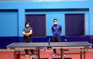 टेबल टेनिस प्रशिक्षण : २ खेलाडी, ४ प्रशिक्षक