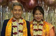 खेल पत्रकार घिसिङ र राष्ट्रिय च्याम्पियन खम्बु विवाह बन्धनमा बाँधिदै