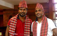 इपिएल खेल्न थरंगा र धाम्मिका नेपाल आइपुगे